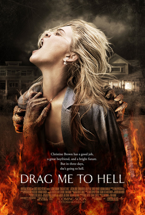 "Movie poster for Sam Raimi's ""Drag Me To Hell"""
