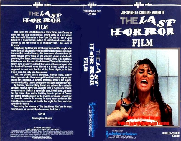 "Original VHS Box Cover For ""The Last Horror Film"""