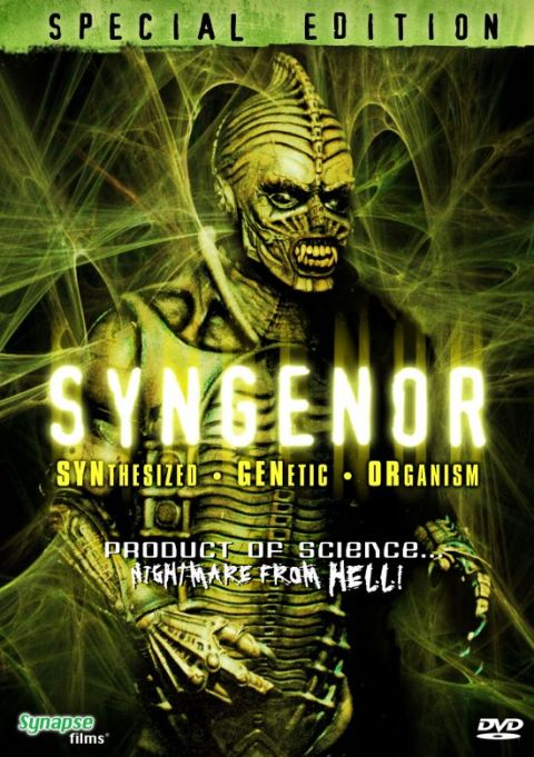 "DVDCover For Synapse Films' release of ""Syngenor"""