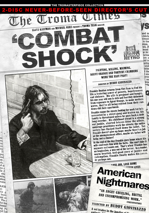 "Troma's new ""Combat Shock"" double-disc release"