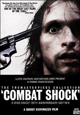 """Combat Shock"" Tromasterpiece 25th Anniversary Edition DVD Cover"