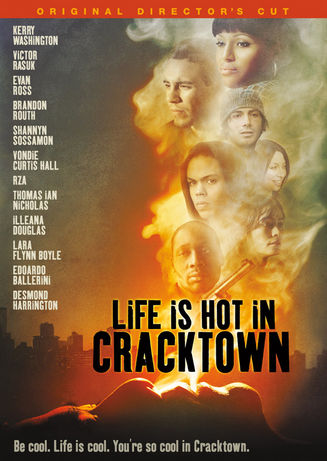 "Movie Poster/DVD Cover for the Director's Cut of Buddy Giovinazzo's ""Life is Hot in Cracktown"""