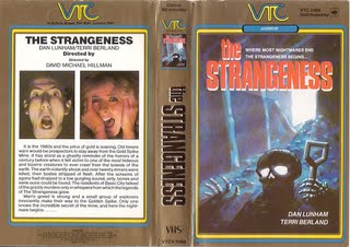 "Original VHS Cover for ""The Strangeness"""