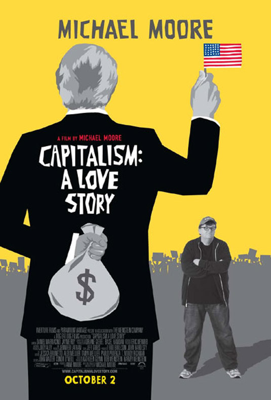 """Capitalism : A Love Story"" Movie Poster"