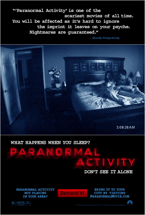 """Paranormal Activity"" Movie Poster"
