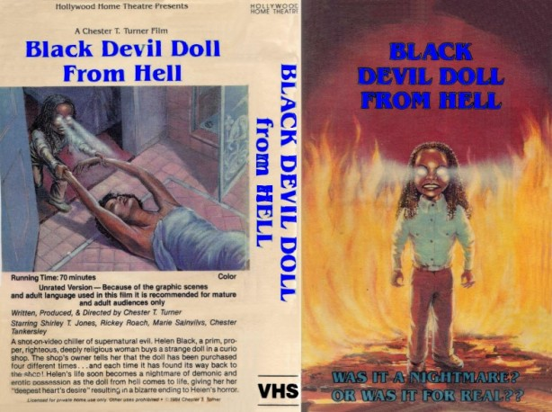 black devil doll from hell vhs front & back2