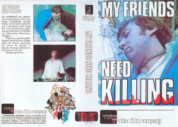 my friends need killing vhs front & back