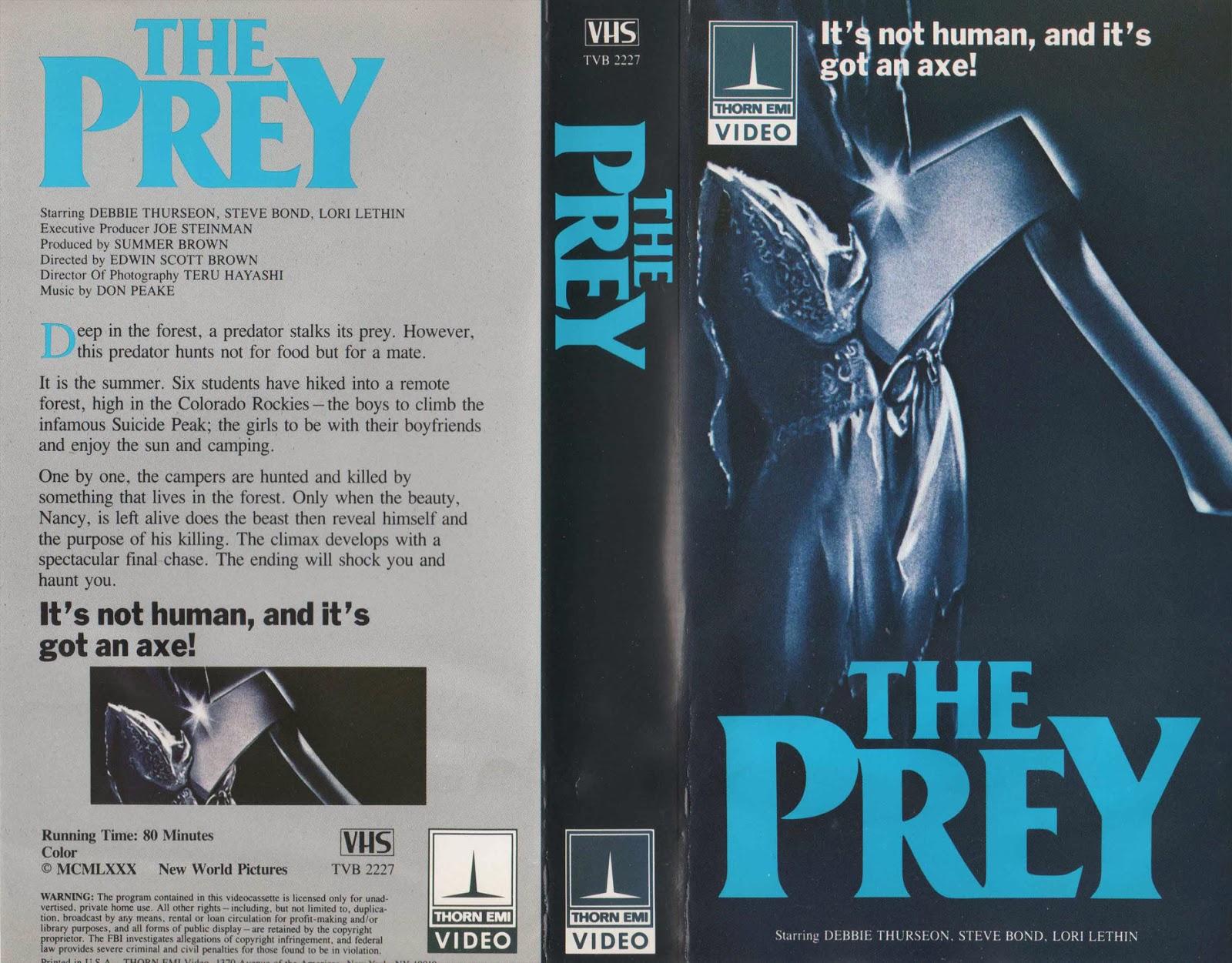 The Prey (1984 film) The Prey 1984 HalfSlasher HalfNature Documentary All Weird